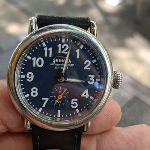 Shinola Runwell Midnight Blue Argonite watch